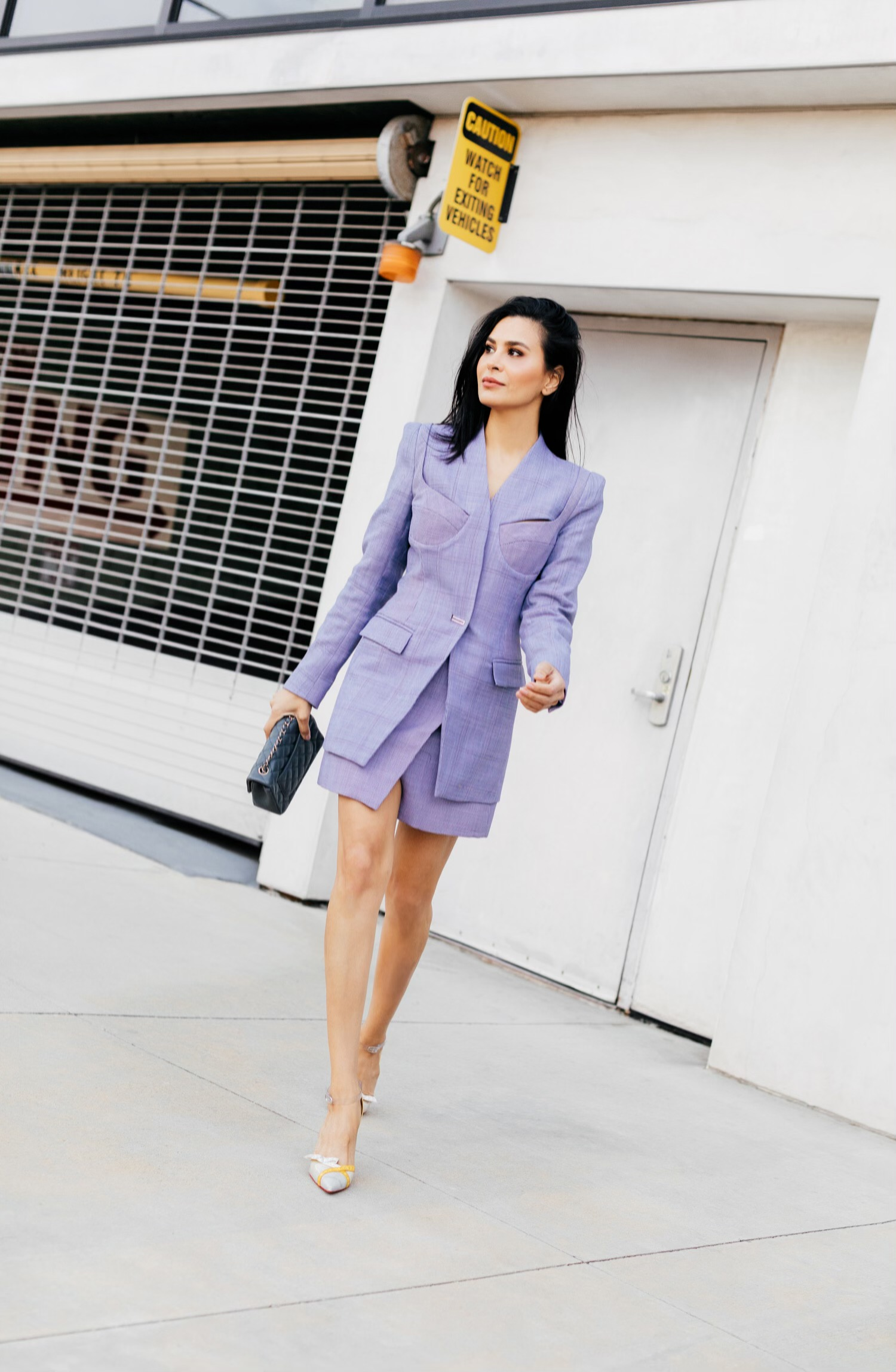 '80s inspired blazer dress
